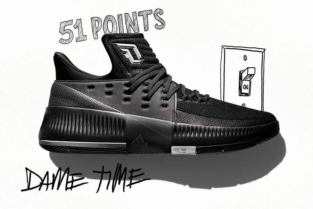 Adidas Dame 3 Lights Out 1