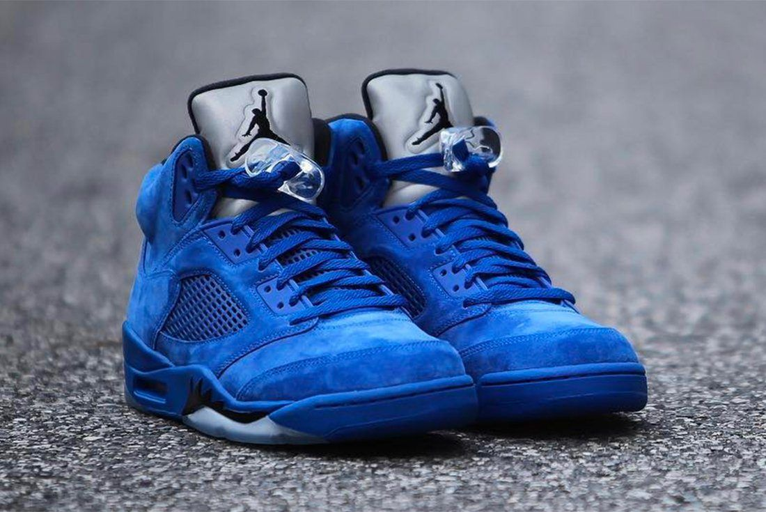 Air Jordan 5 Blue Suede 10