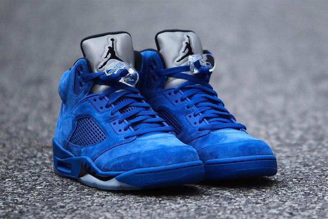 Air Jordan 5 Blue Suede 10