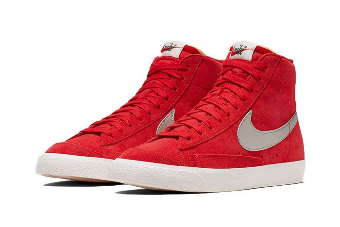 Nike Blazer Mid Vintage Red Cj9693 600 2 Pair