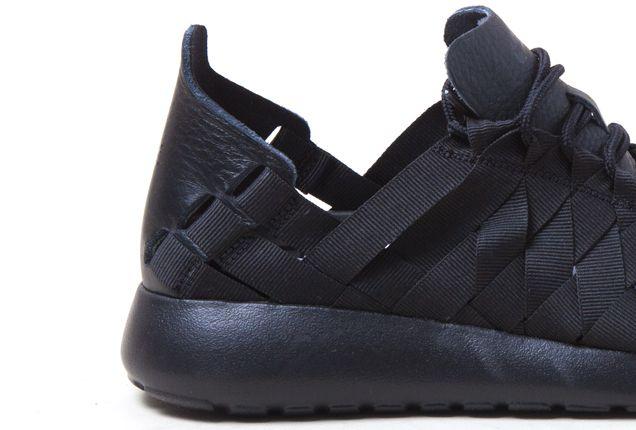 Nike Roshe Run Woven Blk Heel 1