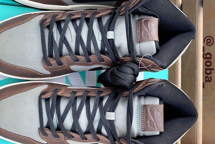 Nike Sb Dunk High Pro Baroque Brown Bq6826 201 Release Date 2 Top