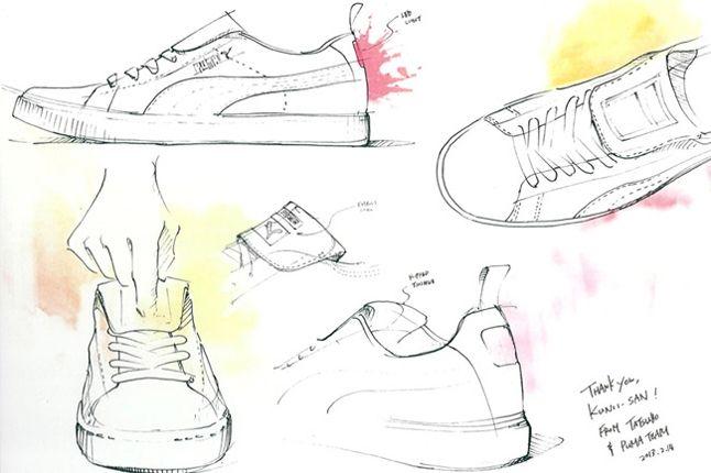 Mita Puma Suede Clyde Sketch 1