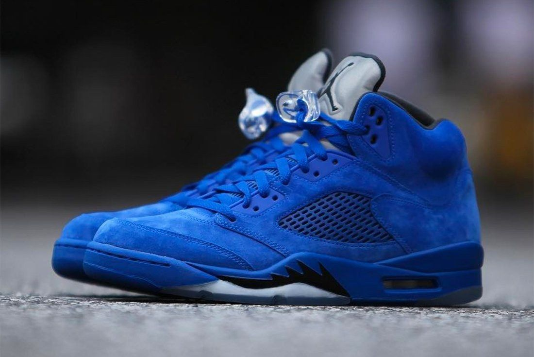 Air Jordan 5 Blue Suede 13