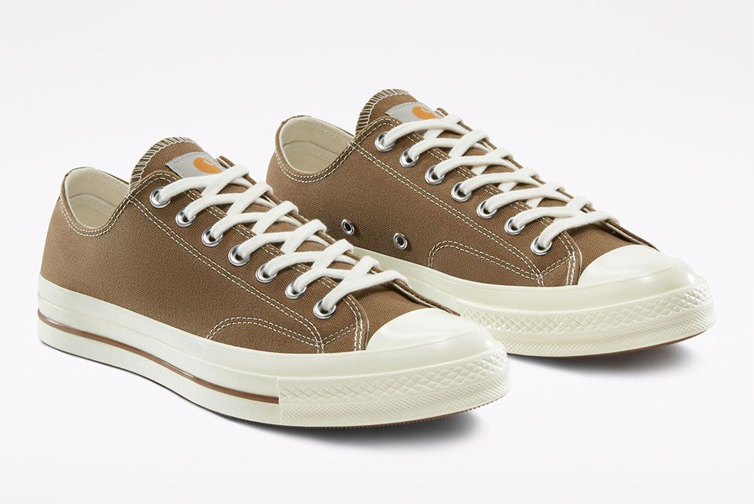 Carhartt WIP x Converse Chuck 70 Hamilton Brown Front Angle