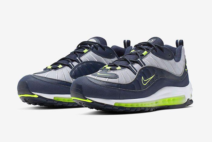 Nike Air Max 98 Obsidian Volt Cn0148 400 Release Date 4Pair