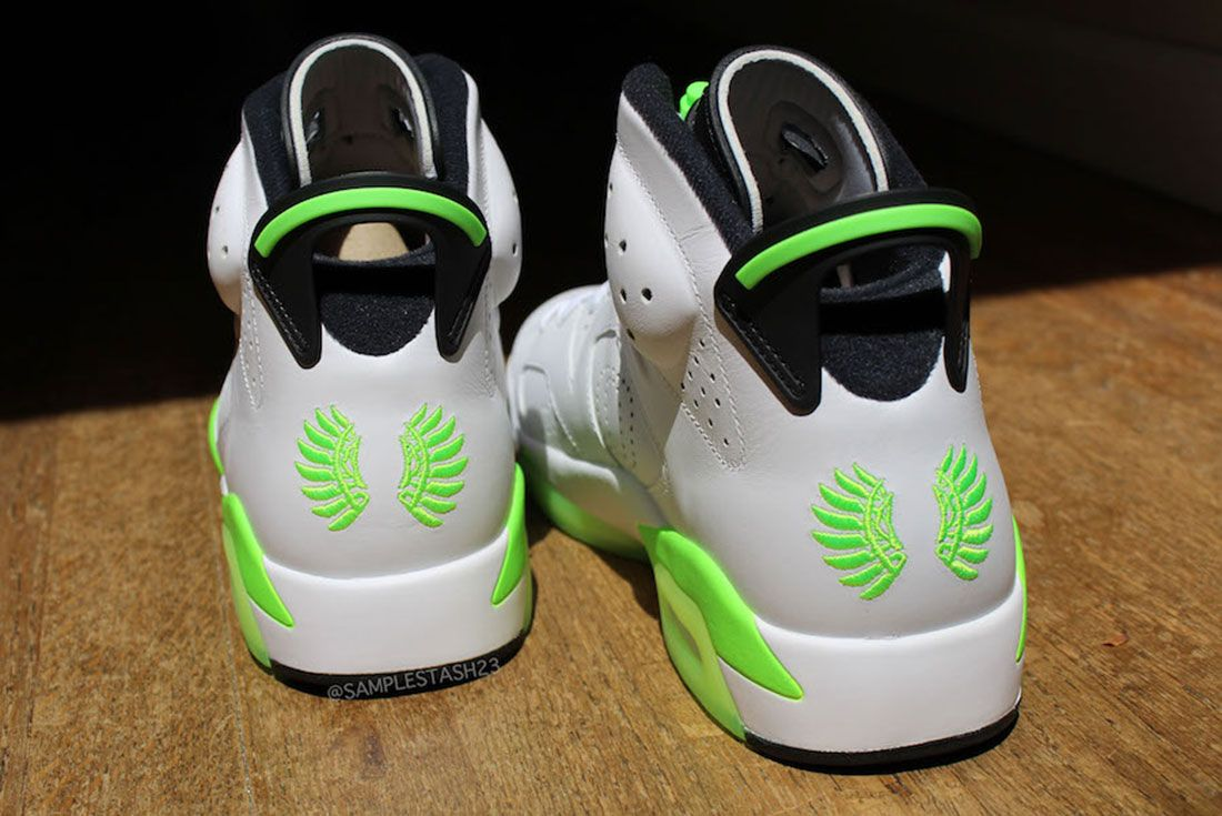 Air Jordan 6 Oregon Womans Basketball Pe 2 Heel Jpg