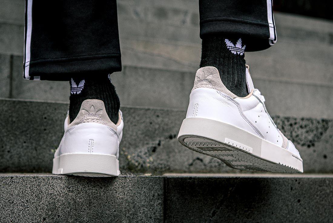 Adidas Supercourt On Foot Heel Stairs