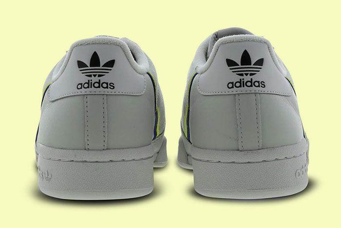 Adidas Continental 80 Grey Yellow 4