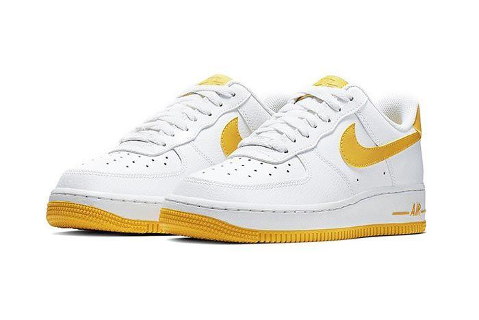 Nike Air Force 1 Yellow White Pair