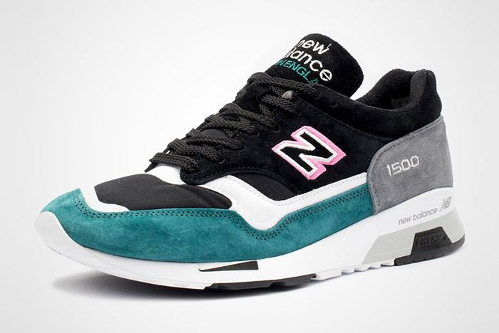 New Balance 1500 Made In England Teal Pink White Black 3