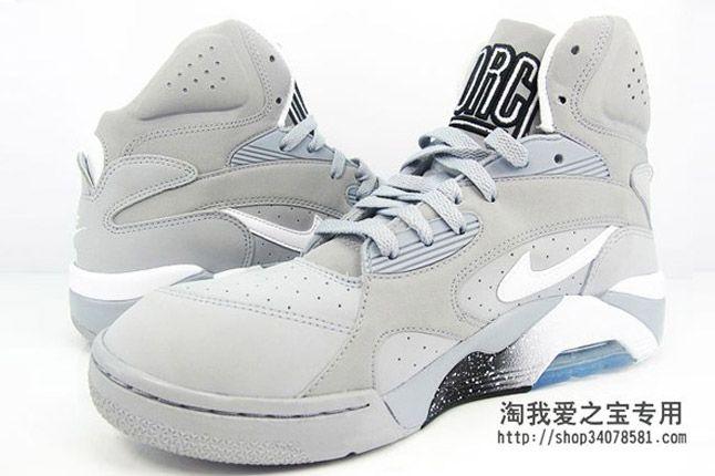 Nike Air Force 180 Grey Black Teal White Pair 2