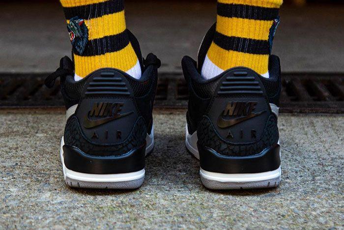Tinker Air Jordan 3 Black Cement On Foot 7