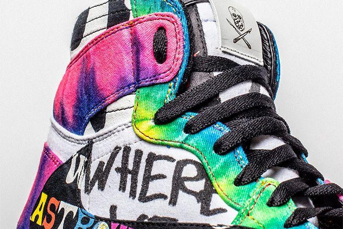 The Shoe Surgeon Travis Scott Air Jordan 1 Astroworld Custom Release Date Info Lateral
