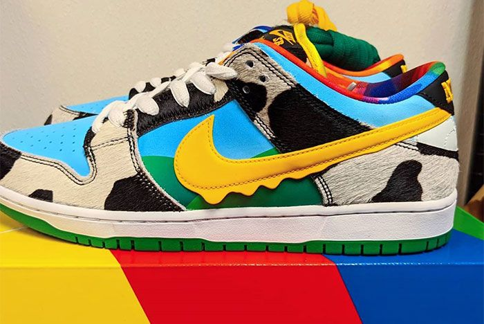 Ben And Jerry Nike Sb Dunk Low Chunky Dunky Left