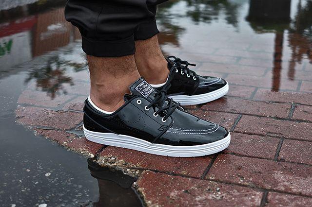 85 Ive2 X Nike Sb Linar Stefan Janoski Black White 5