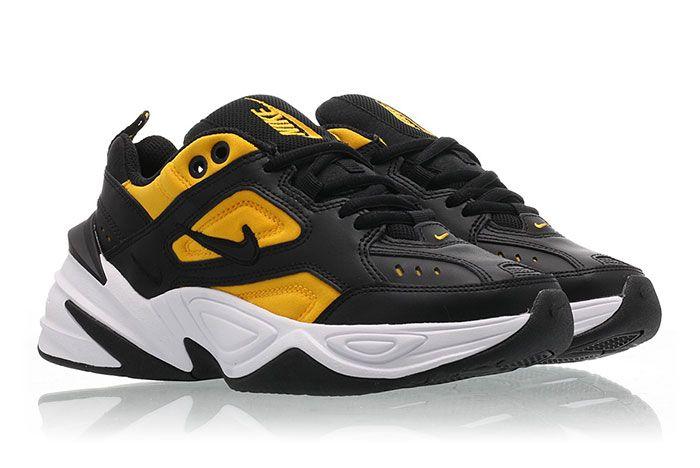 Nike M2 K Tekno Black University Gold Ao3108 014 Release Date 1Pair Angle