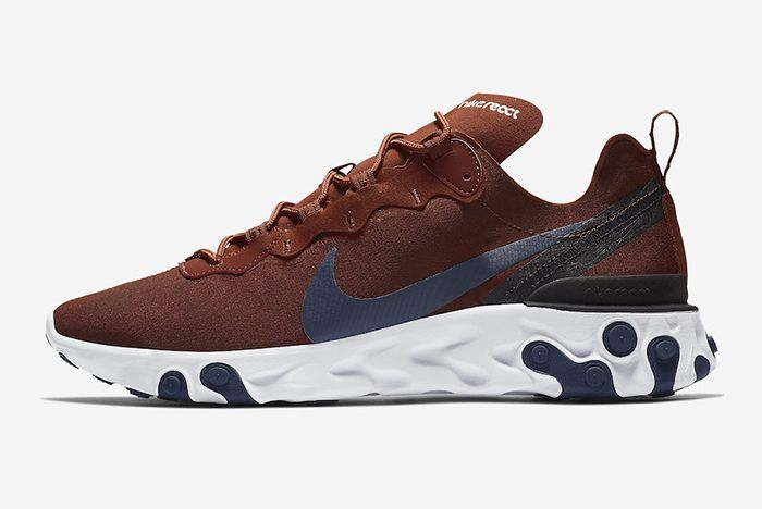 Nike React Element 55 Brown Navy 1