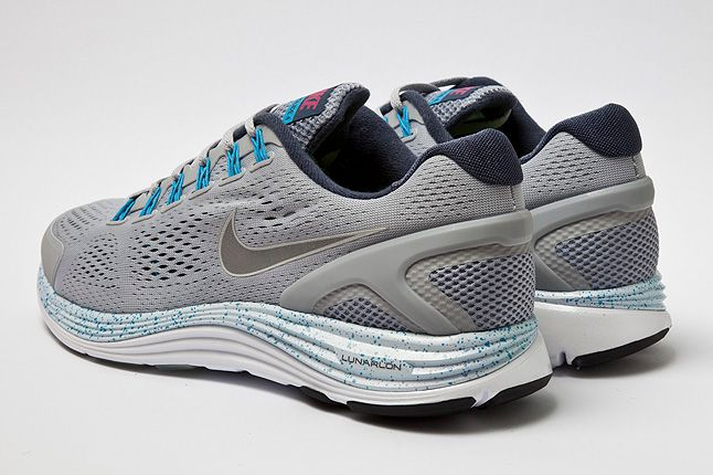 Nike Lunarglide4 Wolf Grey Heel 1