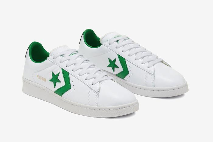 Converse Pro Leather Ox Green Pair