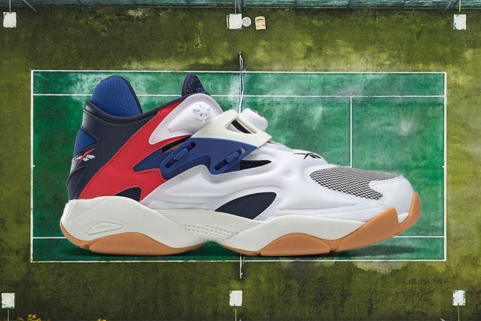 Reebok Pump Court White Collegiate Navy Red Chalk Fv5565 Lateral