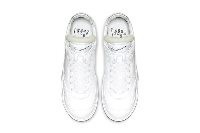 Nike Drop Type Lx Triple White Cn6916 100 Release Date Top Down