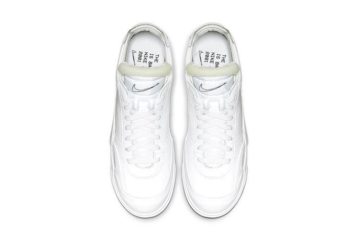 Nike Drop Type Lx Triple White Cn6916 100 Release Date Top Down