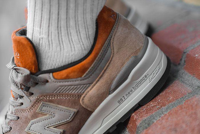 Afew Store New Balance M997Naj On Foot Heel Detail
