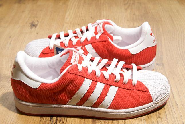 Adidas Superstar Canvas Orange 1