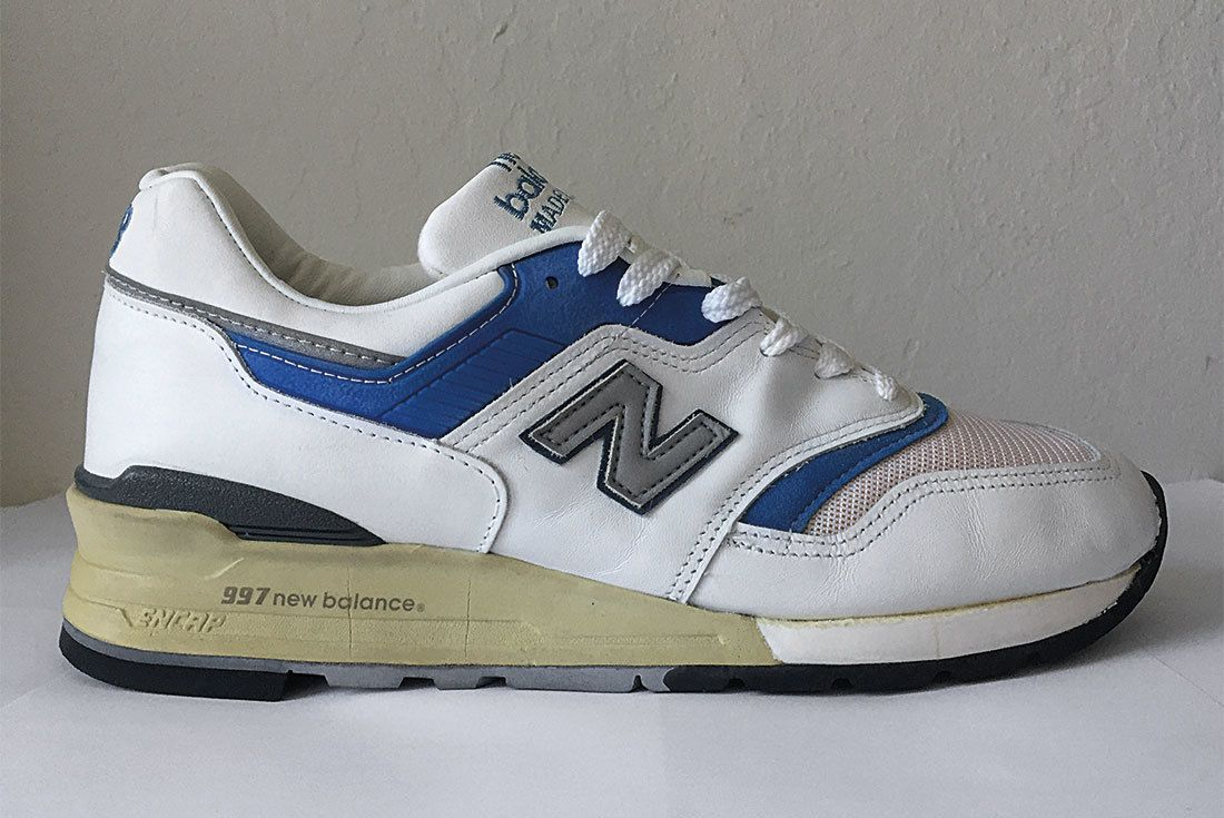 Nb 997 White Leather Blue