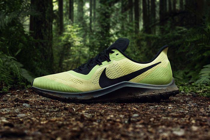Nike Air Zoom Pegasus 36 Trail Volt Black Release Date Lateral Hero