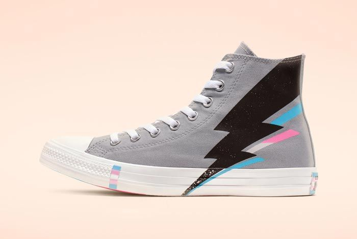 Chuck Taylor All Star Pride High Top Grey Lateral