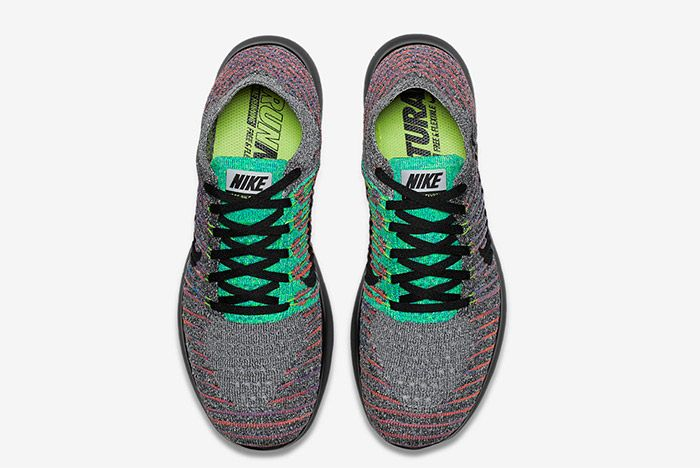 Nike Free Rn Flyknit Grey Multi 4