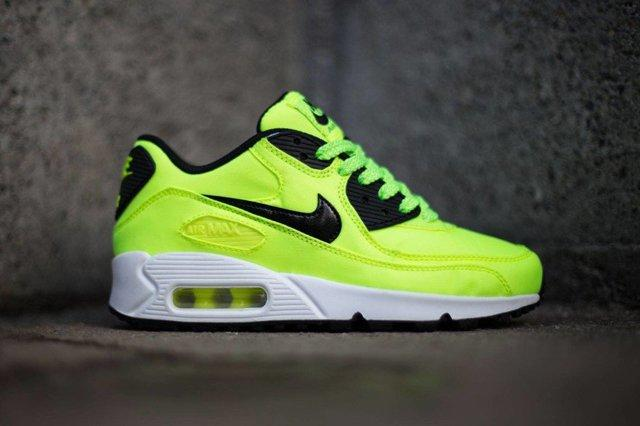 Nike Air Max 90 Fb Kids Volt Black 3