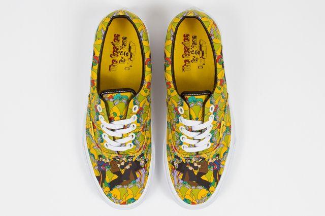 The Beatles Yellow Submarine By Vans Era Garden True White Spring 2014