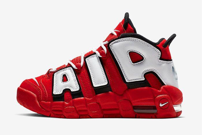 Nike More Uptempo Red White Black Chicago Bulls Cd9402 600 Side Shot 1