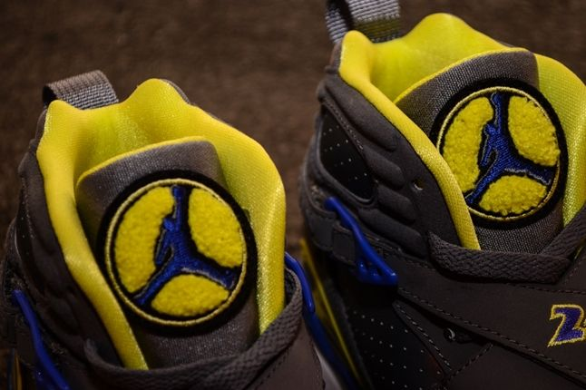 Air Jordan 8 Gs Laney Tongue Detail 1