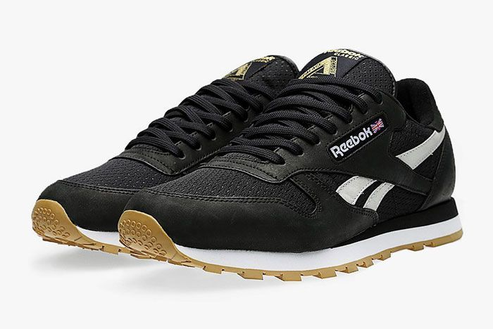 Reebok Palace Classic Leather Black Front 1