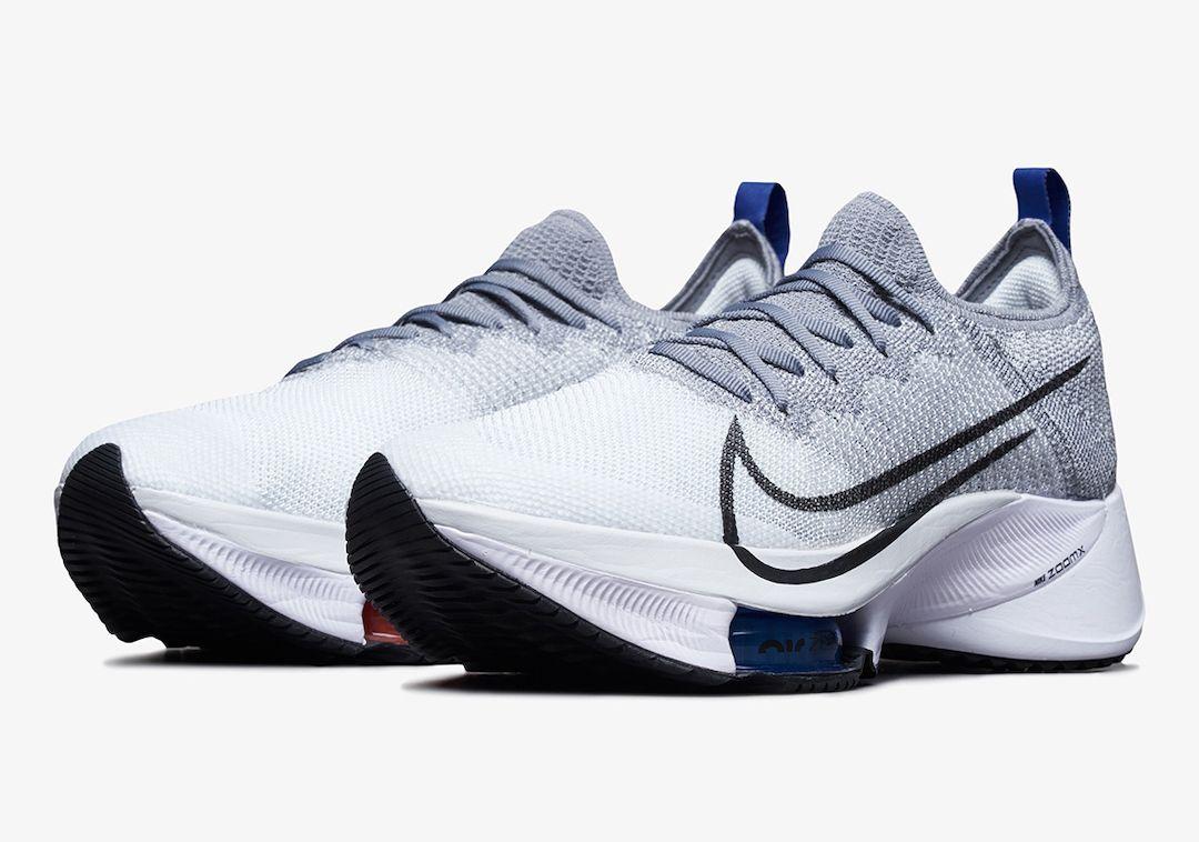 Nike Air Zoom Tempo NEXT% Grey Angled