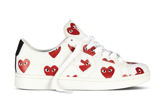 Converse Comme Des Garcons Play Collection Red White Profile 1
