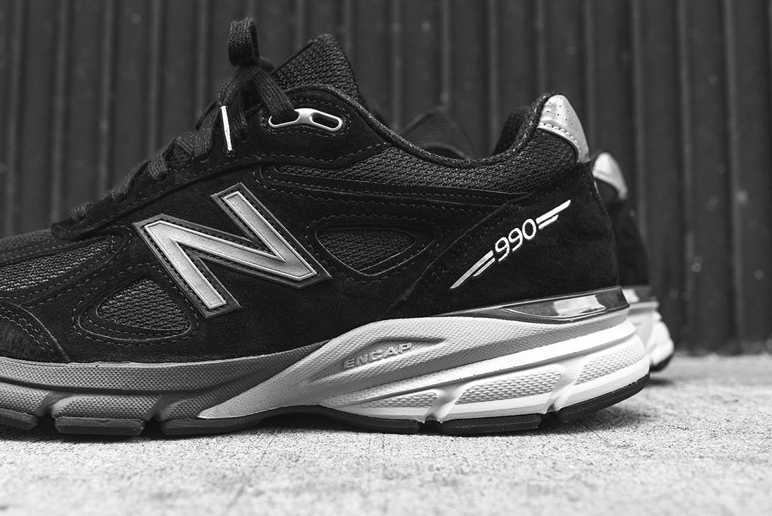New Balance 990 V4 Black Silver 1