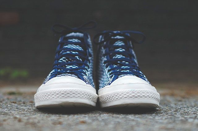 Converse Chuck Taylor All Star Hi Premium Knit Nvy Wht Frontview