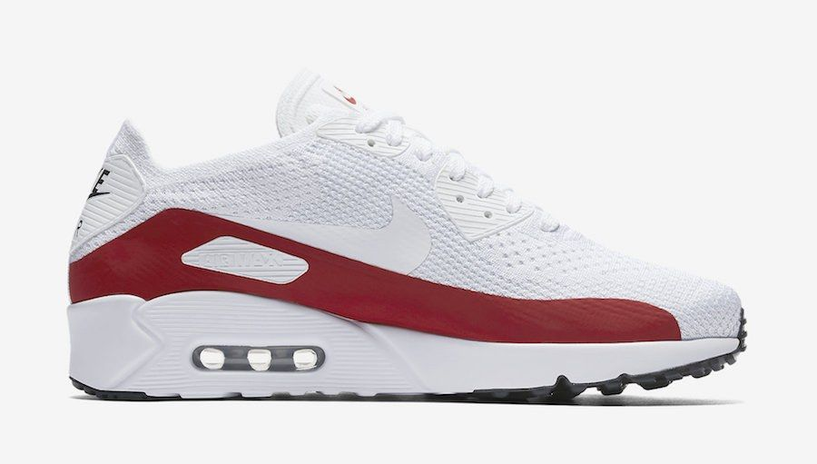 Nike Air Max 90 Ultra 2 0 Flyknit White Red 875943 102 2