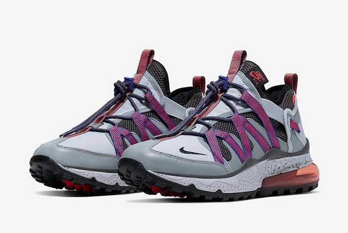 Nike Air Max 270 Bowfin Cool Grey Concord Aj7200 009 Front Angle
