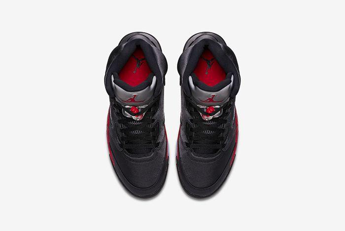 Air Jordan 5 Black Satin Official 3