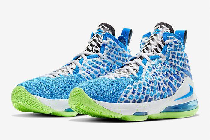 Nike Lebron 17 Photo Blue Toe