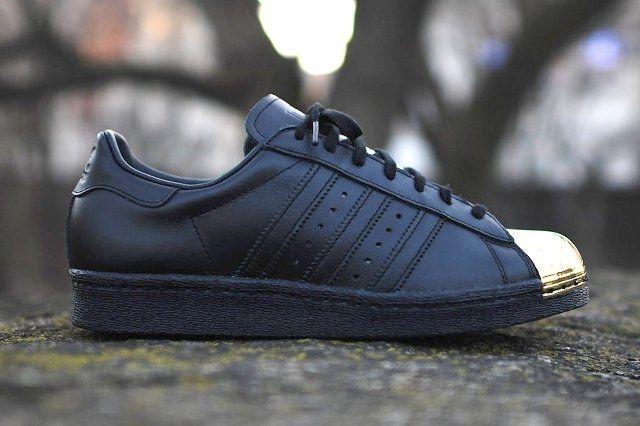 Adidas Originals Superstar 80 Metal Toe Black Gold Thumb