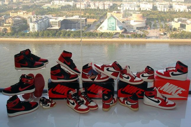 Sunshining7 Nike Air Jordan I 1985 Black Red Vs White Red 1 1