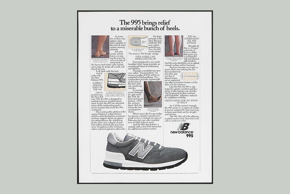 History Of New Balance 995 Advertisement 1