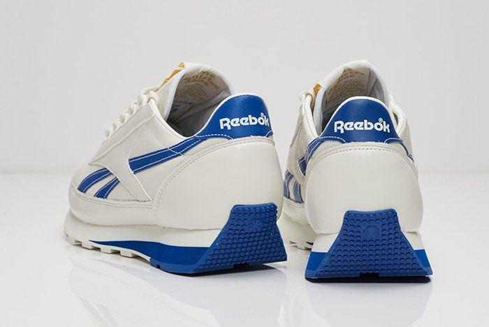 Reebok Aztec Leather White Blue 4